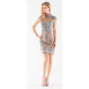 Colors gray lace dress, size 6, NEW!